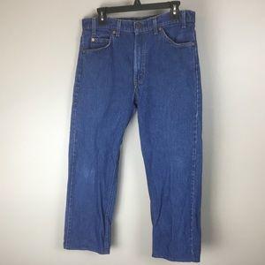 Levi's mens Orange tag 505 blue jeans 34x25